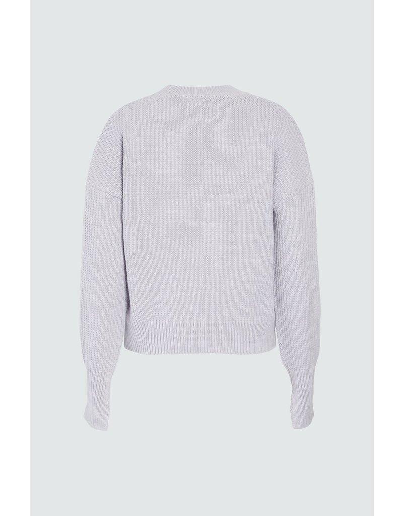 RTA RTA Wilson Cuff Slit Crewneck Sweater