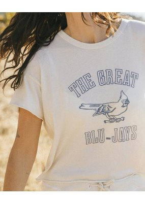 The Great Blue Jay Crop Top