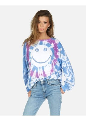 Lauren Moshi Peace Happy face Pullover