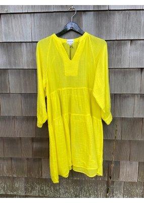 Felicite Puff Sleeve Dress Gauze Sunshine