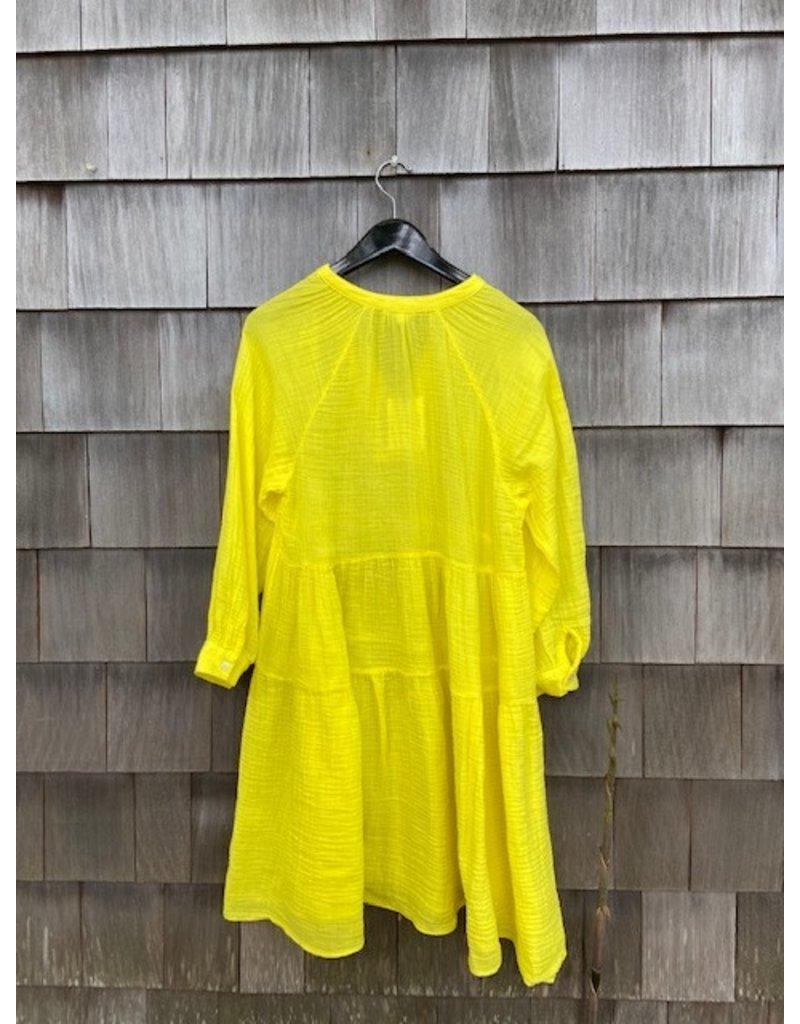 Felicite Felicite Puff Sleeve Dress Gauze Sunshine