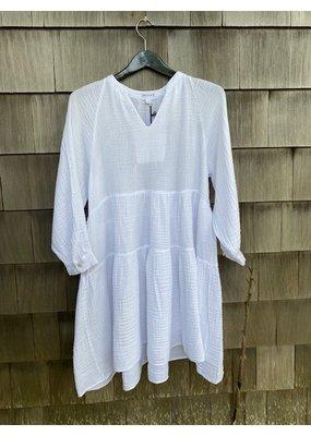 Felicite Puff Sleeve Dress Gauze White