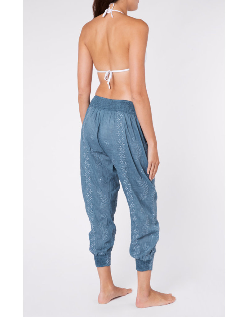 Juliet Dunn Juliet Dunn Acid Wash Trousers Denim Blue