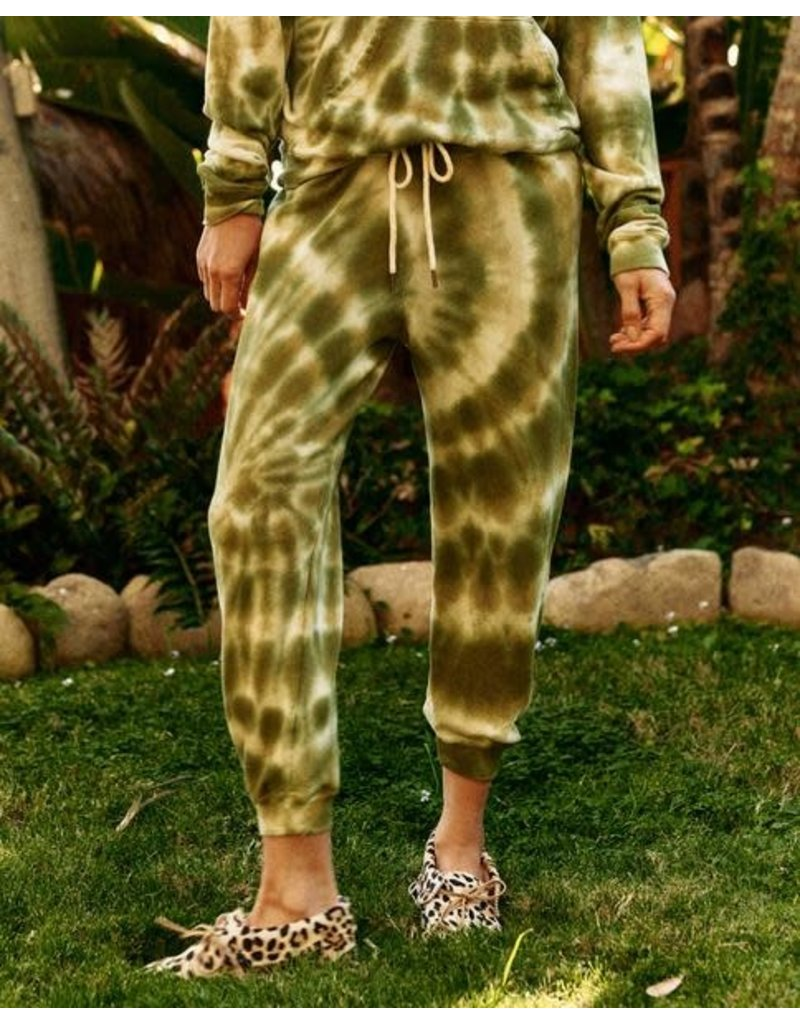 The Great The Great Cropped Sweatpant Army Tie Dye