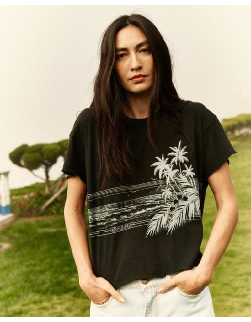 The Great The Great The Crop Tee w/ shoreline graphic
