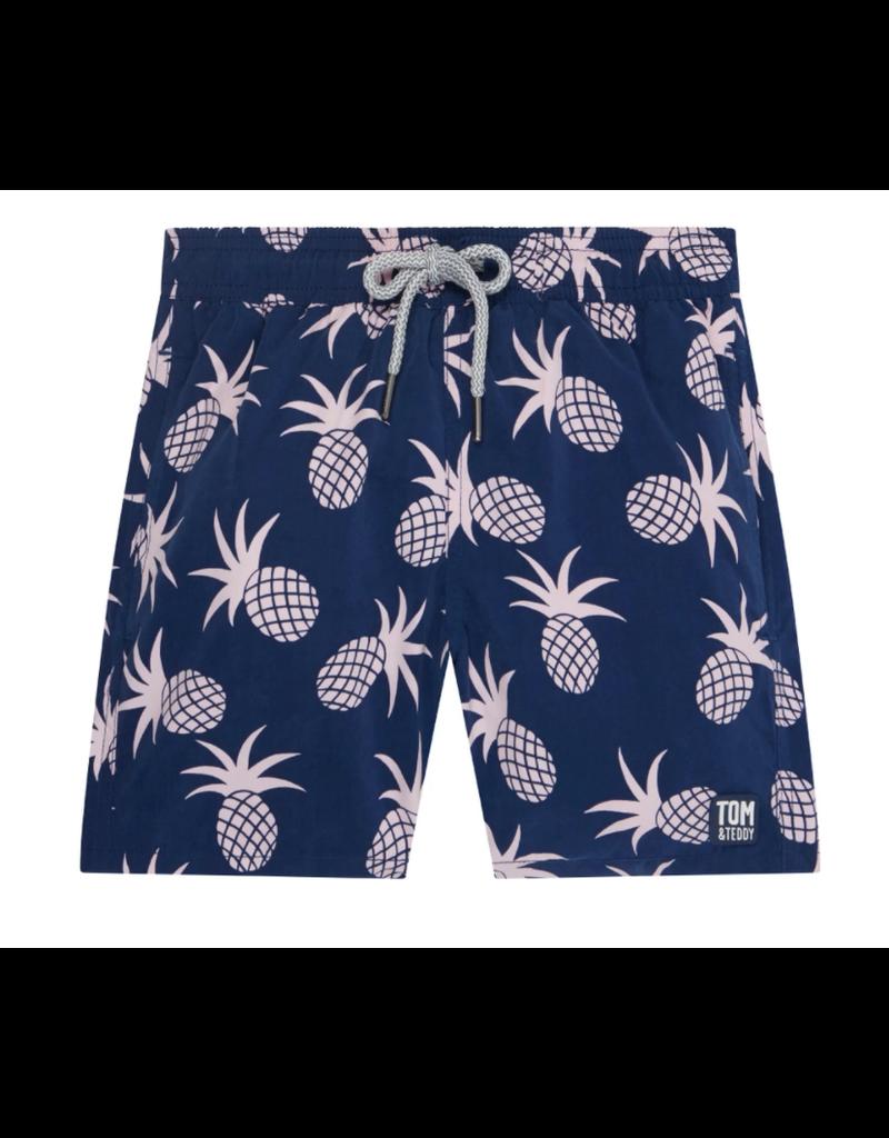 Tom & Teddy Tom & Teddy Pineapple Boys Swim Trunk
