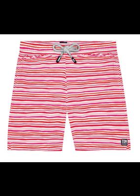 Tom & Teddy Stripe Swim Trunk