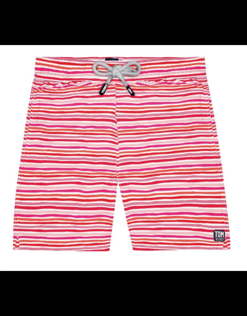 Tom & Teddy Tom & Teddy Stripe Swim Trunk