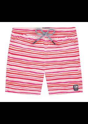 Tom & Teddy Stripe Boys Swim Trunk