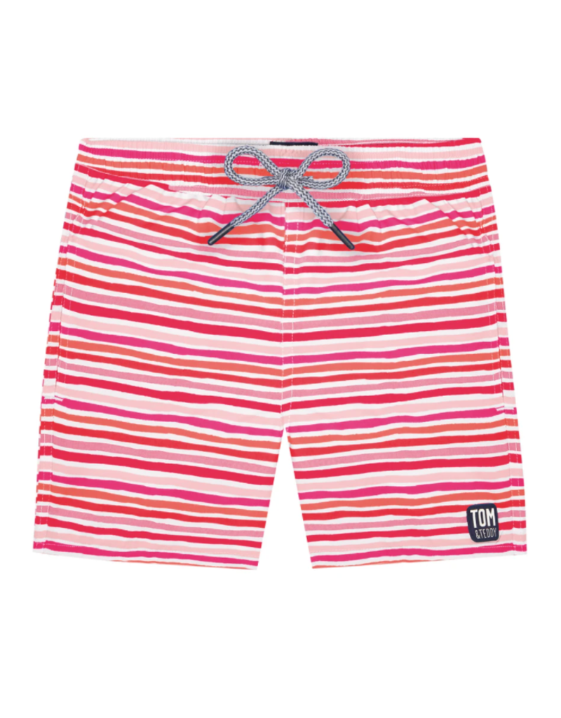 Tom & Teddy Tom & Teddy Stripe Boys Swim Trunk