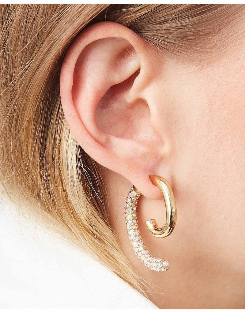 Demarson Demarson Pave Luna shiny gold/AB crystals