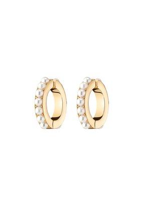 Demarson Lili Pearl Ear Cuffs 12K Gold Pearls
