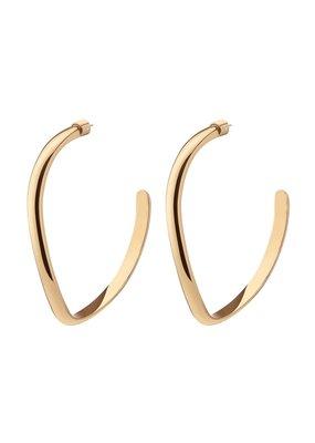Demarson Medium Calypso  Curve Hoops  Shiny Gold
