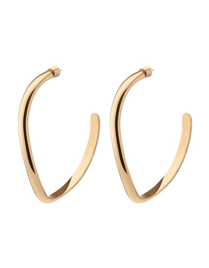 Demarson Demarson Medium Calypso  Curve Hoops  Shiny Gold