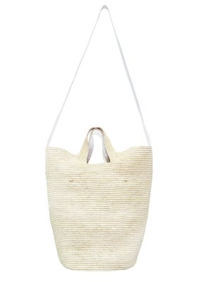 Sensistudio Tall bag with leather strap
