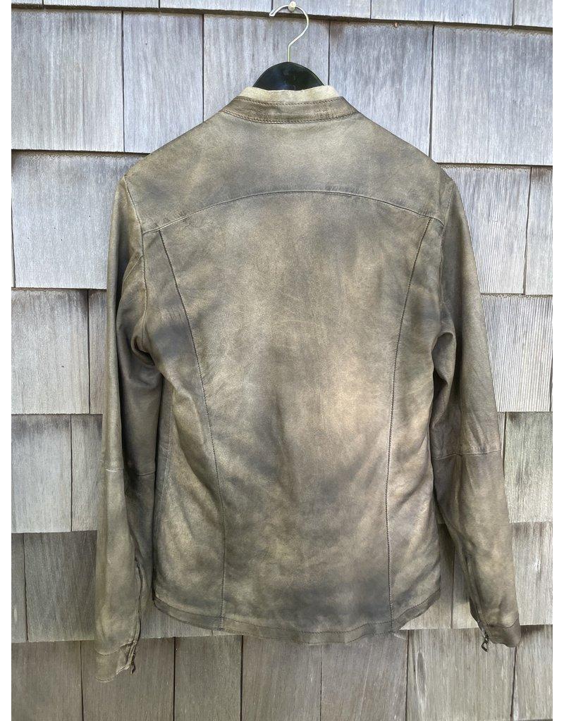 Di Bello Di Bello Nappa Crust Leather Jacket