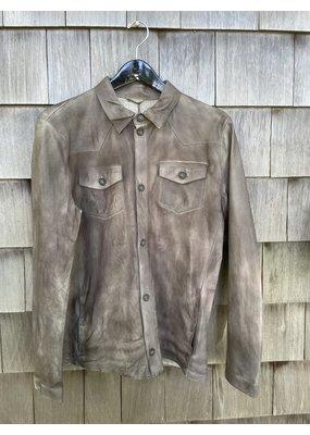 Di Bello Nappa Crust Leather Shirt