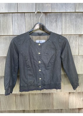 Di Bello Sierra Lavata Leather Jacket Navy
