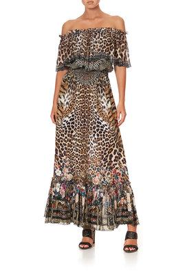 Camilla Off the Shoulder Frill Dress
