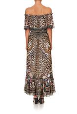 Camilla Camilla Off the Shoulder Frill Dress