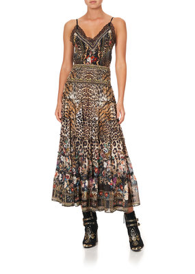 Camilla Shirred Waist Skirt
