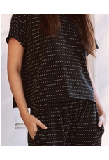 The Great The Great Swiss Dot Crop Tee Almost Black