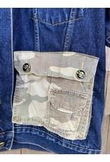 ThreadBare ThreadBare Denim Jakcet camo patches