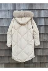 Di Bello Di Bello Crash Fabric & Goose Down Jacket w/ Finraccon Fur Trim