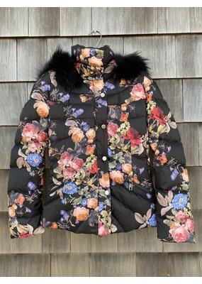 Di Bello Di Bello Tessuto Down Jacket w/ fur trim