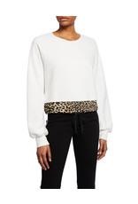 Pam & Gela Pam & Gela contrast hem terry sweatshirt