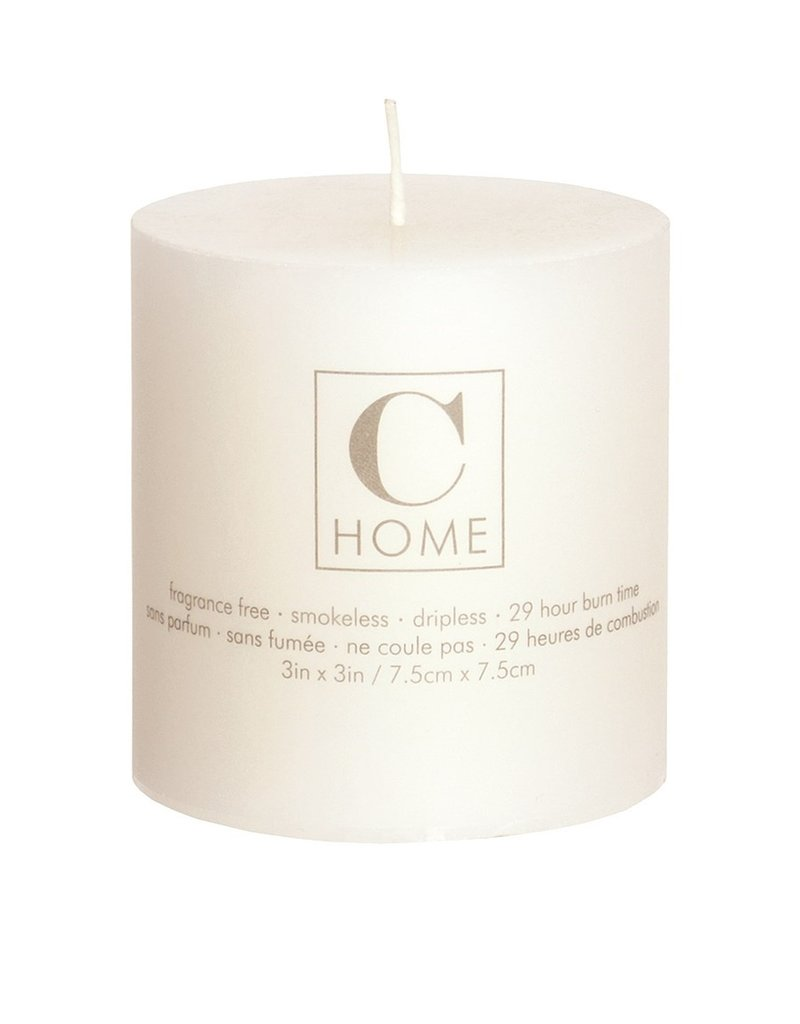 3x3 Pillar Candle Ivory