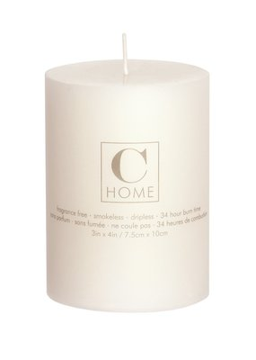 3x4 Pillar Candle Ivory