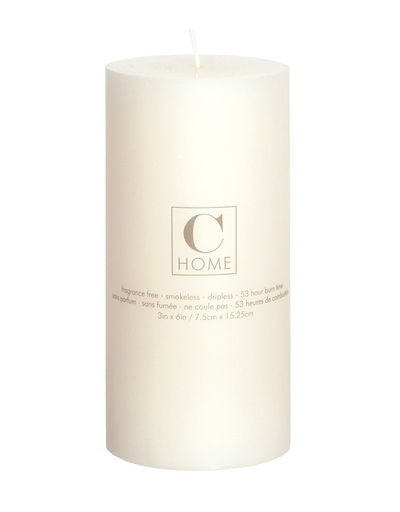 3x6 Pillar Candle Ivory