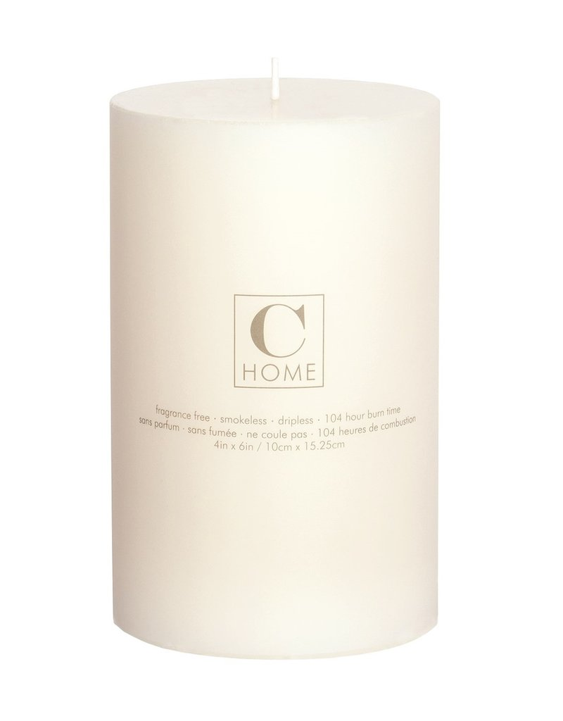 4x6 Pillar Candle Ivory