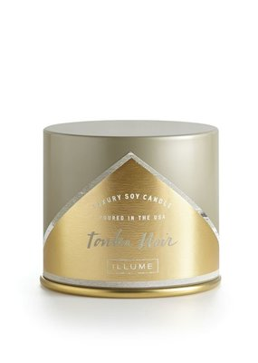 Illume Tonka Noir Tin Large Candle