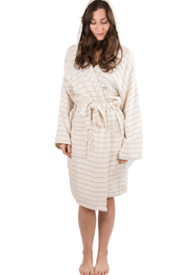 Bamboo Turkish Robe - Cream M/L