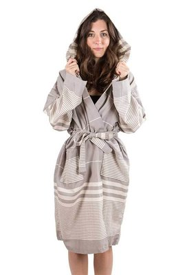 Harem Turkish Robe Silver Grey XL