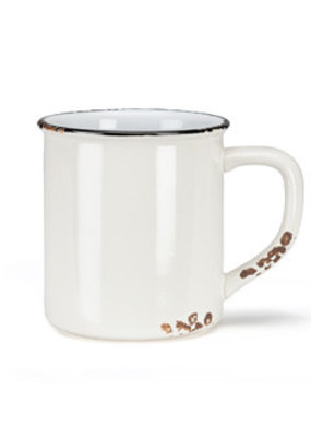 Enamel Look Mug White 14oz