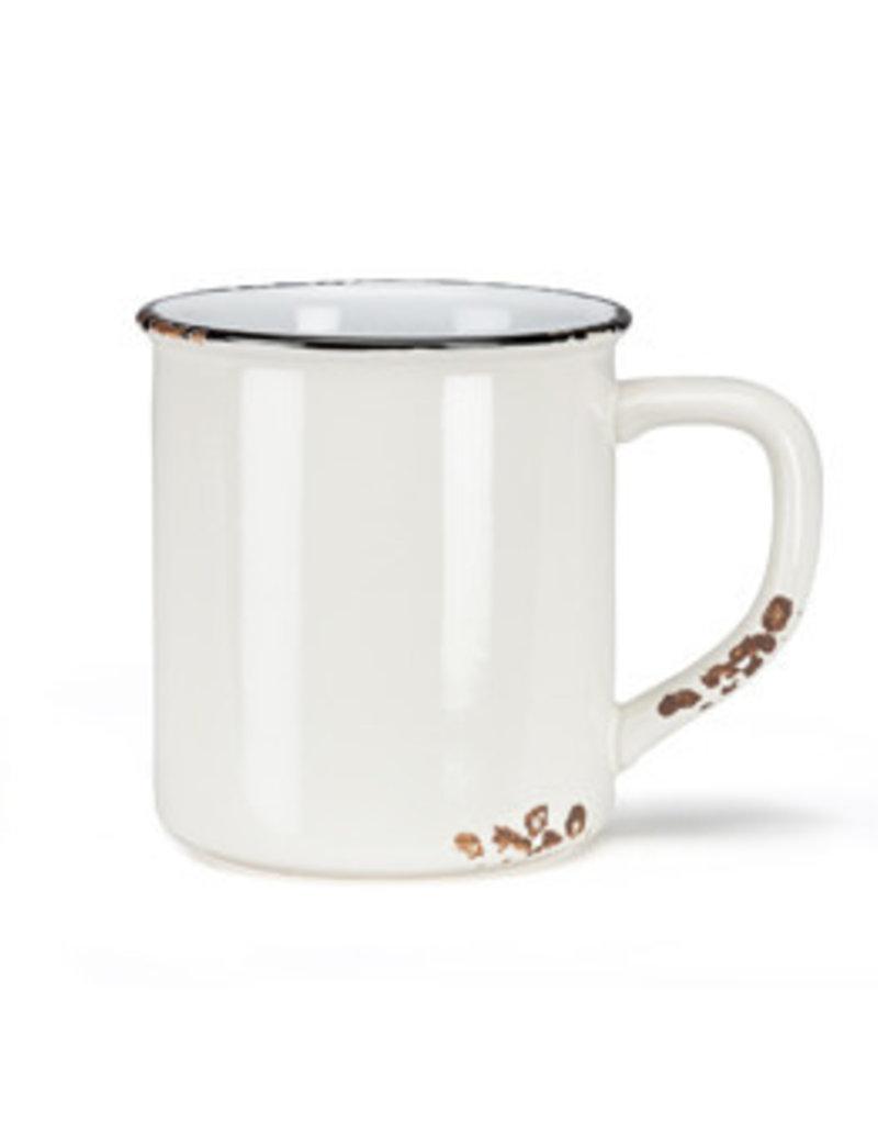 Enamel Look Mug White 14oz