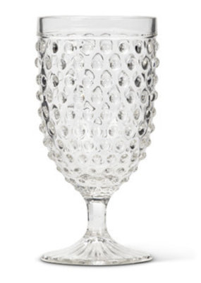 Hobnail All Purpose Goblet - Clear