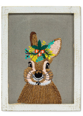 Abbott Wall Art Rabbit With Flowers