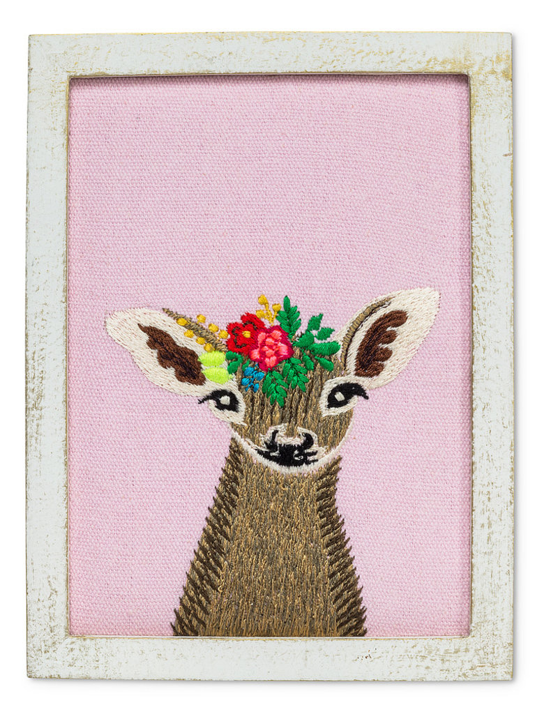Abbott Wall Art Fawn With Flowers