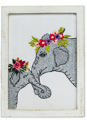 Abbott Wall Art Elephants With Flowers