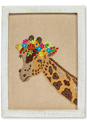 Abbott Wall Art Giraffe With Flowers