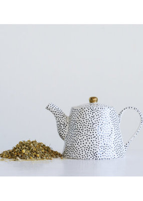 Black Dotted Teapot
