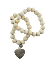 Wooden Prayer Beads w Small Heart