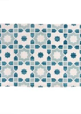 Lisbon Tiles Printed Bath Mat