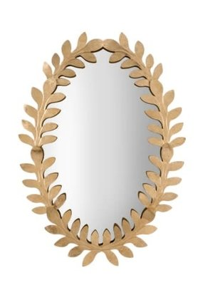 Gold Vines Mirror Oval