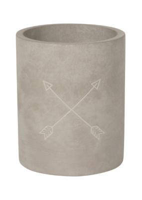 Utensil Crock Concrete Arrows