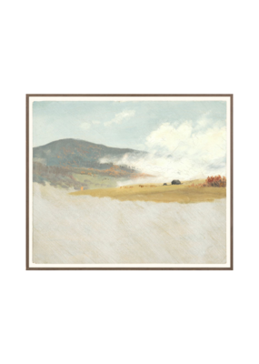 Hilly Landscape Print by Church
